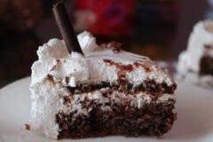 Chocolate cream cake Royalty Free Stock Photo