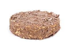 Chocolate cream cake on white Stock Photography