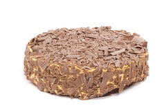 Chocolate cream cake on white Royalty Free Stock Image