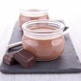 Chocolate cream. Close up on chocolate cream Royalty Free Stock Images