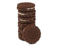 Chocolate Cream Cookies Stock Image