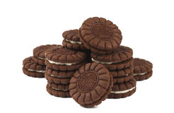 Chocolate Cream Cookies Royalty Free Stock Photography