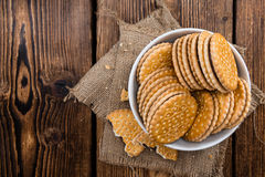 Chocolate Cream Cookies Royalty Free Stock Images