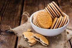 Chocolate Cream Cookies Stock Images