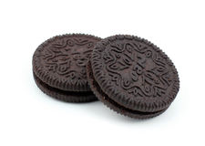 Chocolate cream cookies. Royalty Free Stock Photo