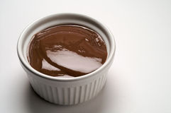 Chocolate cream cup Royalty Free Stock Images