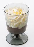 Chocolate and cream cup Royalty Free Stock Image