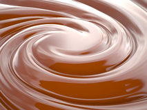 Chocolate cream, 3D Royalty Free Stock Image