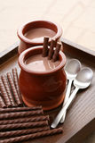 Chocolate cream - dessert Stock Photo
