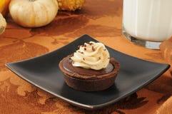 Chocolate cream dessert tart Stock Photos
