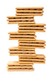 Chocolate Cream Filled Biscuits Tower Stock Photos