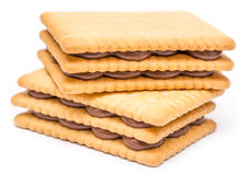 Chocolate Cream Filled Biscuits Stock Image