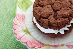 Chocolate Cream Filled Cookie Stock Photo