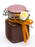 Chocolate Cream Jar Royalty Free Stock Photography