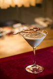 Chocolate and cream martini cocktail Stock Photos