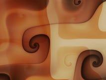 Chocolate cream melting swirls Stock Photos