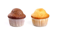 Chocolate and cream muffins Royalty Free Stock Photo