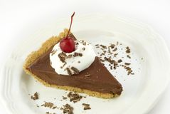 Chocolate Cream Pie Royalty Free Stock Photos