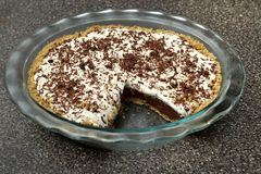 Chocolate cream pie Stock Photos