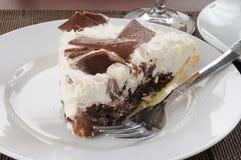 Chocolate cream pie Stock Image