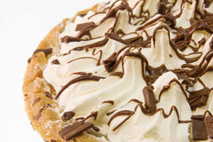 Chocolate cream pie detail Royalty Free Stock Photo