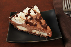 Chocolate cream pie Royalty Free Stock Photo