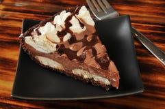 Chocolate cream pie Royalty Free Stock Photography
