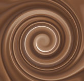 Chocolate Cream Swirl royalty free stock images
