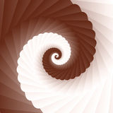 Chocolate cream swirl, brown and white spiral Stock Photography