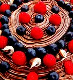 Chocolate cream swirl Stock Photography