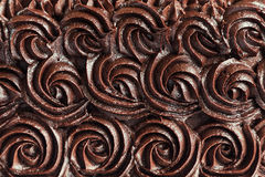 Chocolate cream swirls background Royalty Free Stock Images
