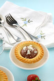 Chocolate Cream Tart Royalty Free Stock Photography