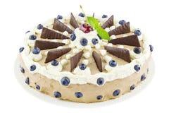 Chocolate cream tart Royalty Free Stock Photography