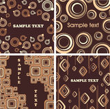 Chocolate and cream textures. Stock Photos