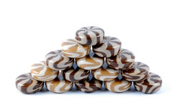 Chocolate-creamy of a sweet sugar candies Stock Images