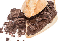 Chocolate Creme on a bun Royalty Free Stock Photography