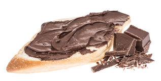 Chocolate Creme on a roll Stock Image