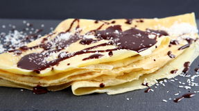 Chocolate crepe Royalty Free Stock Photos