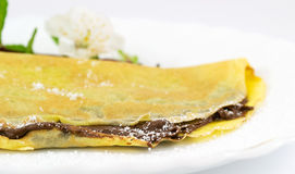 Chocolate crepes Royalty Free Stock Images