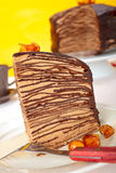 Chocolate Crepes Cake Royalty Free Stock Photo