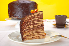 Chocolate Crepes Cake Royalty Free Stock Images