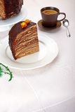 Chocolate Crepes Cake Royalty Free Stock Image
