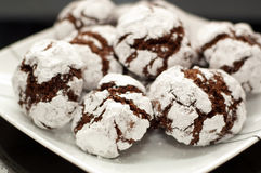 Chocolate crinkle royalty free stock photos