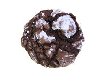 Chocolate crinkle cookie Stock Images