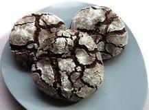 Chocolate crinkle cookies Royalty Free Stock Image
