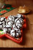 Chocolate crinkles Stock Photo