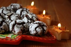 Chocolate crinkles Royalty Free Stock Image
