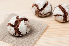 Chocolate crinkles Royalty Free Stock Photos