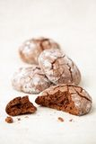 Chocolate crinkles cookies Stock Image