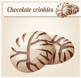 Chocolate crinkles cookies illustration. Cartoon vector icon. Series of food and drink and ingredients for cooking Royalty Free Stock Photos